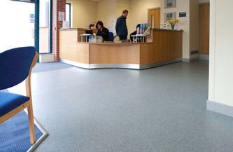 Clinical Flooring & Hospital Flooring: Medical Reception